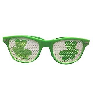 WHISKY Brille St. Patrick's Day Green Irish Adult Festival Lustige Shamrock Green Hat Brille für Herren & Damen 2019 Mode Brille (D)