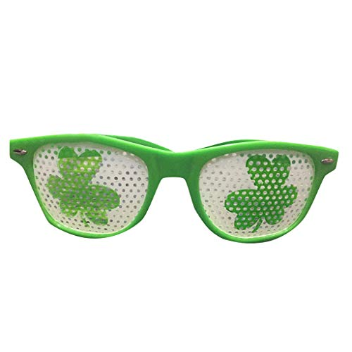 VJGOAL St. Patrick's Day Gläser, Damen Herren Unisex Neuheit Mode Party Performer Grün Zubehör Familie Freund ()