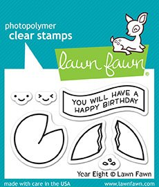 Lawn Fawn Clear Stamps lf1605Jahr Acht (Clear-stempel Cookie)