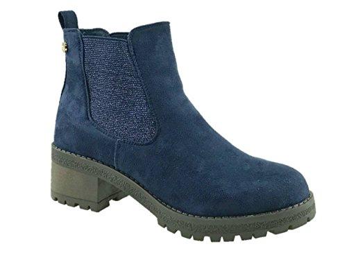Blau Mädchen Boots (Mc Footwear ,  Damen Mädchen Chelsea Boots , blau - navy - Größe:)