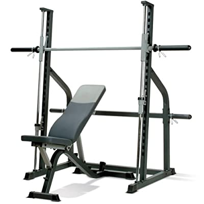 Marcy SM600 Smith Machine & Adjustable Utility Weight Bench by Marcy