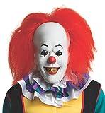 Rubie's costume ufficiale per adulto Pennywise Deluxe maschera con capelli clown, IT The Movie - Taglia unica, multicolore.