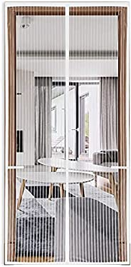 Magnetic Screen Door with Heavy Duty Mesh, Anti Mosquito Bug Divider Curtain, Upgraded, Hands Free, Dogs Pets