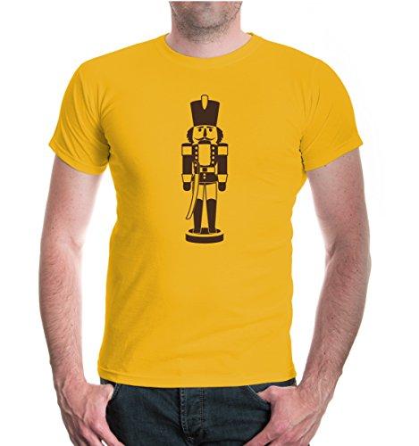 buXsbaum® T-Shirt Nussknacker-Figur Sunflower-Brown