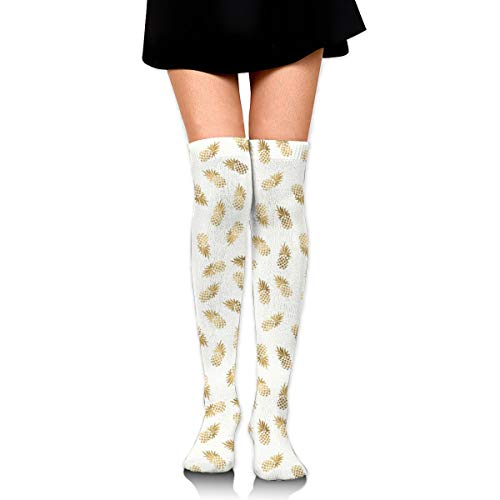 Gold Women's Over Knee Thigh Socks Girl High Stockings 65 Cm/25.6In -