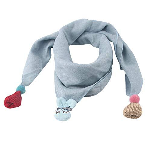 MAYOGO Kinderkleidung mädchen Winter Schal,Kinder Multifunktion Doppelschicht Dreieck Warm Weiche Halstücher Decken Umschlagtuch mit Niedlich Anhänger -