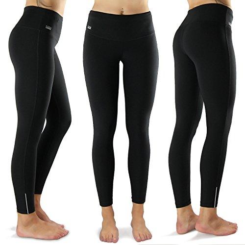 Formbelt® THERMO Leggings Damen Winter Laufhose mit Tasche lang - stretch-hose hüfttasche für Smartphone Iphone Handy Schlüssel (schwarz S)