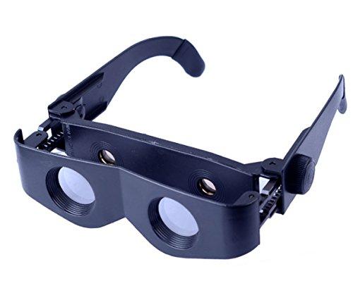 XLF Angelbrillen - Watch Drift Special - Head-Mounted 3 Mal Zoom HD-Brille Brille Teleskop Fanggeräte,Schwarz,Angeln Gläser