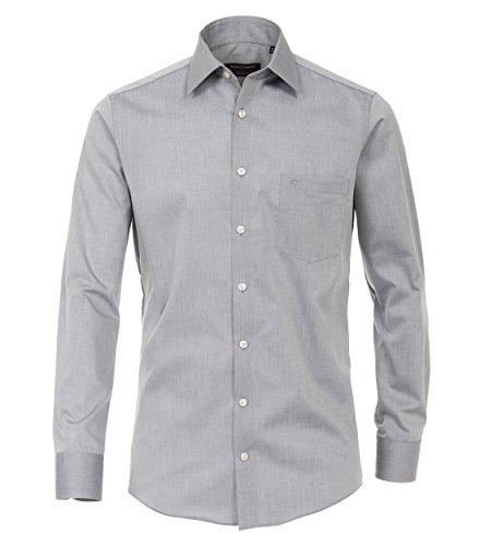 Michaelax-Fashion-Trade Camicia Classiche - Basic - Classico - Maniche Lunghe - Uomo Silber (705)