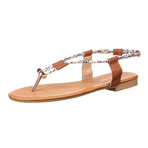 Ital-Design - Scarpe con cinturino alla caviglia Donna Bianco (bianco)