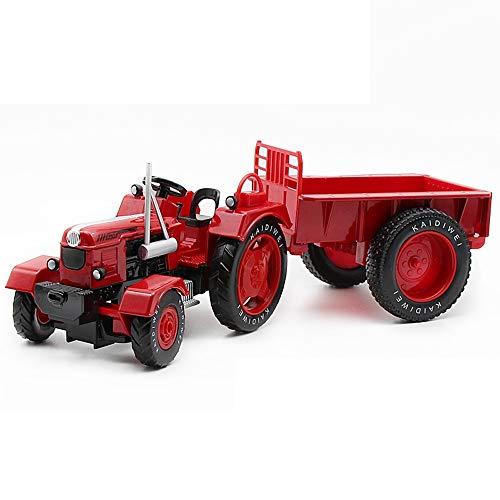 MEILA Traktor Modell 1:18 Legierungstechnik Auto Retro Kinder Spielzeugauto Traktor Mit Autosimulation Automodell Beständig Gegen Stoßdämpfer (Color : Red)