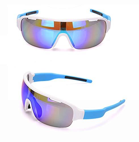 WDDP Polarisierte Sport-Sonnenbrille (Zwei Gruppen Von UV400-Schutzgläsern) Für Männer, Frauen Beim Radfahren, Angeln, Laufen Und Bei Outdoor-Aktivitäten,C