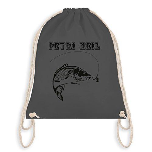 Angeln - Petri Heil - Unisize - Dunkelgrau - WM110 - Turnbeutel & Gym Bag