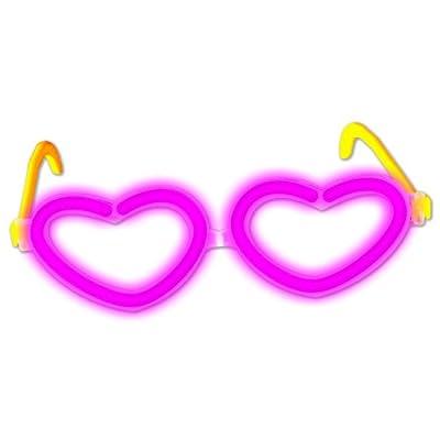 Knicklichter Herz- Brille PINK / ROSA - Komplettset! Neueste Generation. Unter eigenem Label produziert. von KnickLichter.com (.de) bei Lampenhans.de