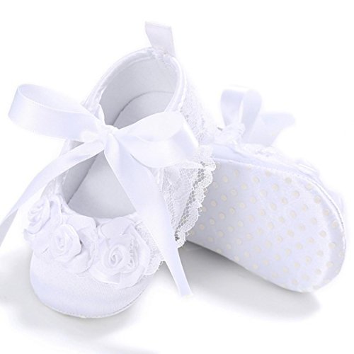 Neugeborene Krippe Sohle Schuhe Blume M盲dchen Sneakers Saingace Soft Anti Kleinkind Wei Baby Rutsch 0FZIqnwA