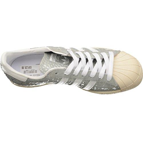 Sat Adidas Superstar 80s Donna Sneaker Metallico Silver Todas Las Estaciones Disponibles 7IdHXZ