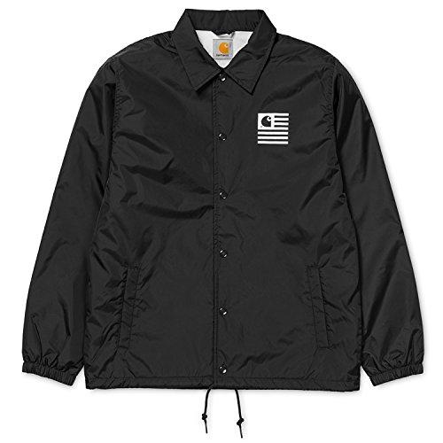 Carhartt Uomo State Coach Logo Jacket, Nero, Large