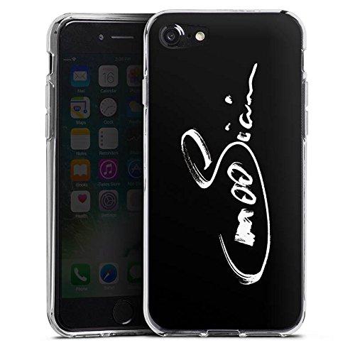 Apple iPhone X Silikon Hülle Case Schutzhülle M00sician Fanartikel Merchandise Autogramm Silikon Case transparent