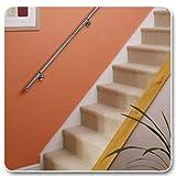 Rothley Rampe d'escalier en acier inoxydable 40 mm x 3,6 m...