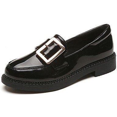 SHOESHAOGE Chaussures Femmes De Confort Loafers Pu Tomber &Amp; Slip-Ons Talon Bas Bout Rond Pour Un Rouge Noir Black