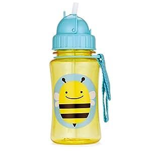 Skip Hop Zoo Straw Bottle Bee, Multi Color