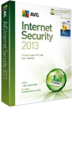 AVG Internet Security 2013 and TuneUp Utilities 2013 - 4 User 1 year License(PC)