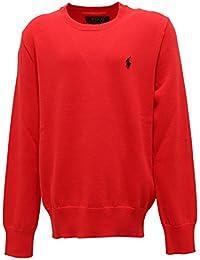 8915T maglione bimbo RALPH LAUREN cotone rosso cotton red sweater boy