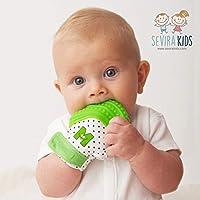 Munch Mitt - Polka dots - Green