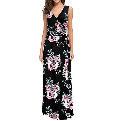 Lover-Beauty Vestido Largo Floral Print Casual Verano para Noche...