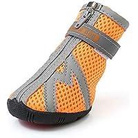 Odfbgfj Los Zapatos para Perros pequeños no Son fáciles de Caer Zapatos Antideslizantes Antideslizantes Cuatro Estaciones al Aire Libre (Color : Orange, Size : 3)