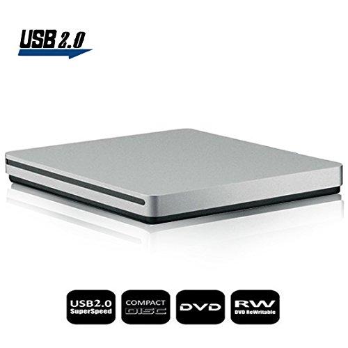 Externes DVD Laufwerk, Sunreal USB 2.0 Hochgeschwindigkeits-Datentransfer Externer DVD-CD-Brenner/Player / Rewriter für Notebook/Desktop
