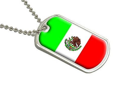 Mexique Drapeau militaire–Dog Tag bagages Porte-clés