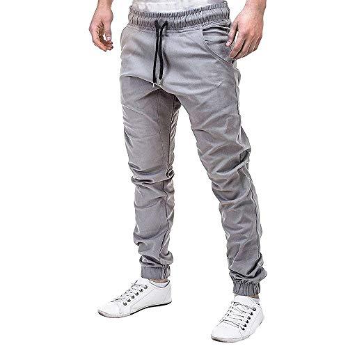 Männer Junge Jogginghose, Quaan Hose Beiläufig Elastisch Joggings Sport Solide Ausgebeult Taschen Hose | 00730218795527