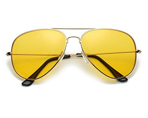 Red Peony Pilotenbrille Sonnenbrille HD Gelben Nachtsichtbrille Autofahren Polarisiert für Herren -...