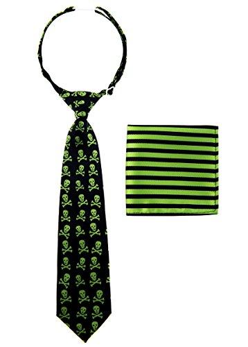 Corbata Canacana, con nudo integrado, diseño de calaveras y...