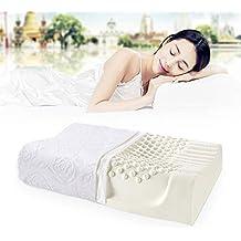Almohada del Látex NewMum Almohada de Masaje para el Insomnio para Mejora el dolor de cuello