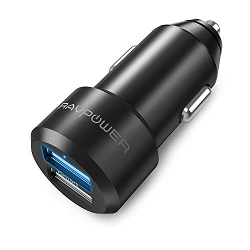 Car Charger RAVPower USB Car Adapter Chargers with 12V 24W 4.8A 2-port for iPhone XS/XR/XS Max, Galaxy S9, LG, Nexus, HTC with iSmart 2.0 Tech ? Black