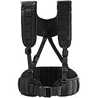1T Molle Cinturón Cinturón acolchado con correa Táctica, Negro, Taille Länge: 39,5''-43,5''/100cm-110cm
