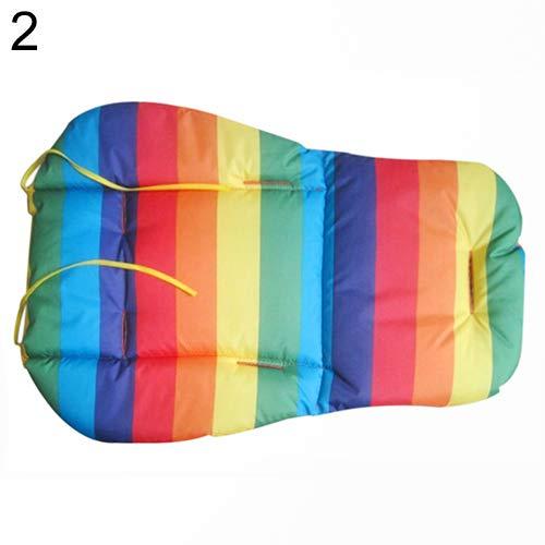 qingsb - Cojín Acolchado para Cochecito de bebé, Impermeable, diseño de arcoíris