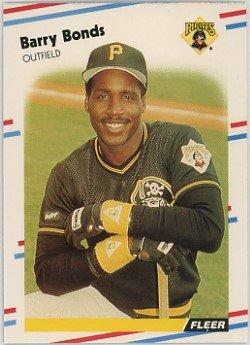 1988 Fleer # 322 Barry Bonds Pittsburgh Pirates Baseball Card
