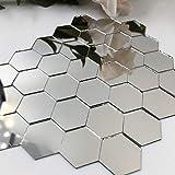 Piccoli specchi esagonali a mosaico da 2,5 cm, 100 pezzi per progetti creativi.
