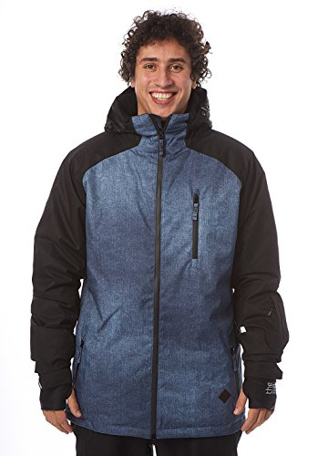 LIGHT Herren Outerwear - Jacke Slice, Denim Pattern/Black, XL, FA-502-15 (Hose Insulated Denim)