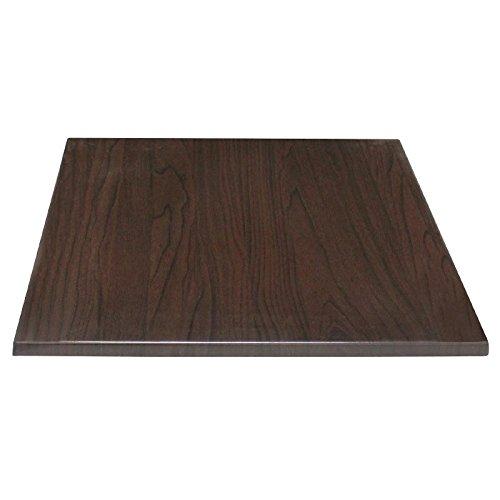 Bolero GG639quadratisch Tischplatte, dunkelbraun