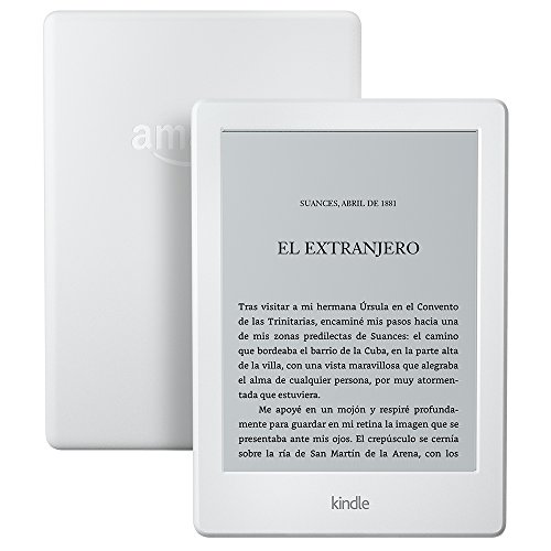 Kindle, pantalla táctil de 6'' (15,2 cm), sin luz integrada, wifi (blanco)