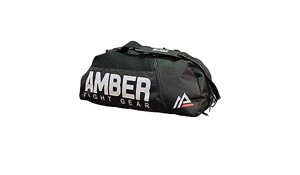 Amber Fight Gear Pro Gym Sac de Sport Wet Dry Sac de Rangement avec 3/Poches zipp/ées Organisation ventil/é pour Muay tha/ï Kickboxing Boxe MMA 66/cm