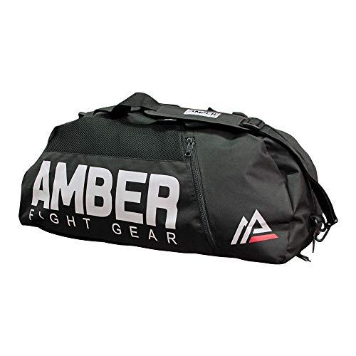 Amber fight gear pro gym sports bag wet dry storage borsone con 3tasche con cerniera ventilata organizzazione per muay thai, boxe, kickboxing, arti marziali, 66cm