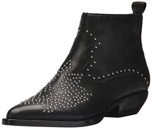 Dolce Vita Women's Uma Ankle Boot, Black Leather, 8 M US (Dolce Vita Leder Schwarz)
