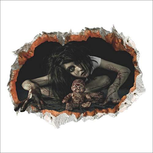 Wandaufkleber,3D Halloween Wandsticker Haushalt Zimmer Terror Wand Aufkleber Wandbild Decal Wandtattoo Removable Moginp (C)