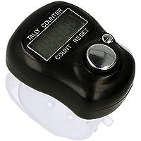 Contador Digital con Mini LCD de 5 Dígitos Negro, Registrador de Visitas, Golpes, Pasos, Vueltas, Mercancía, Electrónica Rey®
