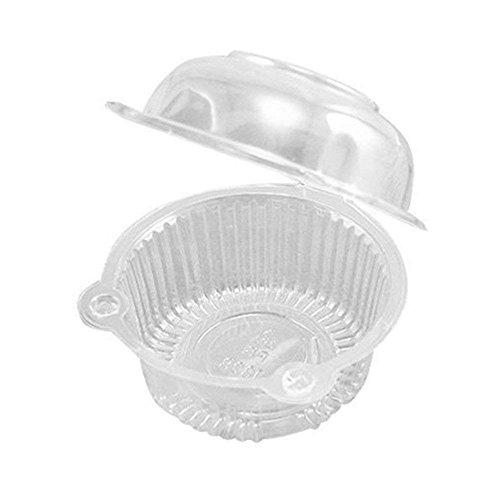 gzq 100PCS Cupcake Box Kunststoff Single Individuelle Halterungen für Cupcake Muffin Dome Fällen Tassen Container (Single Cupcake-container)